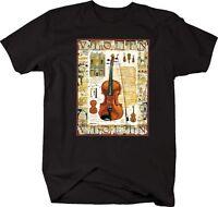 Tshirt -violin Classical Strings Instrument