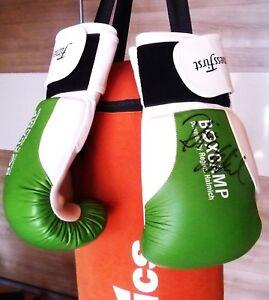 Boxhandschuhe-NEU-10-oz-mit-orginal-Autogramm-von-Regina-Halmich