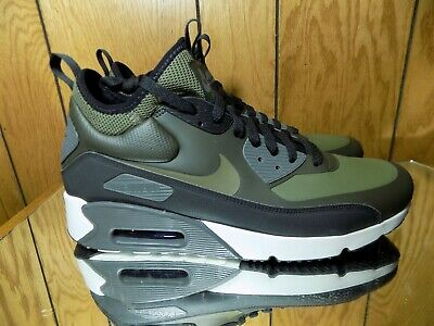 Nike Air Max 90 Ultra Mid Winter 924458 300 Sequoia Medium Olve Black s 8 | eBay
