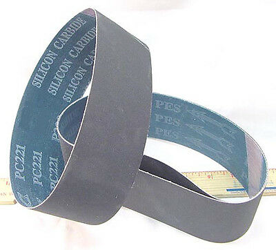BUTW (3) 600 grit Si Carbide lapidary grinding belt 8""