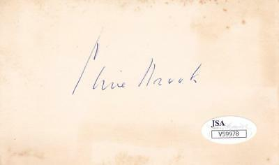 Audacious Clive Brook D.1974 Signed 3x5 Index Card Actor/shanghai Express Jsa V59978 Punctual Timing Autographs-original