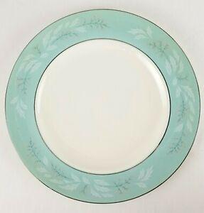 Vintage-Romance-HOMER-LAUGHLIN-Cavalier-Eggshell-Turquoise-Silver-Dinner-Plate