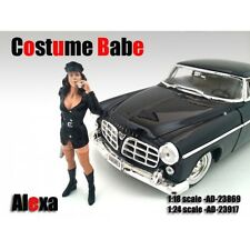 COSTUME BABE ALEXA FIGURE FOR 1:24 SCALE MODELS BY AMERICAN DIORAMA 23917