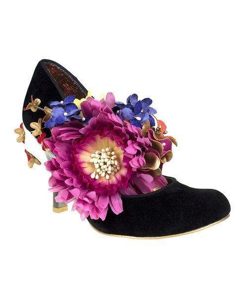 ottima selezione e consegna rapida IRREGULAR CHOICE LONDON SPLISH SPLASH nero FLOWERS PUMP PUMP PUMP HEELS scarpe 7.5 NIB  buona qualità