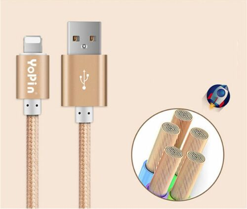 iPad air 2 pro Aluminum Heavy Duty Lightning Braided Data Sync Charge USB Cable