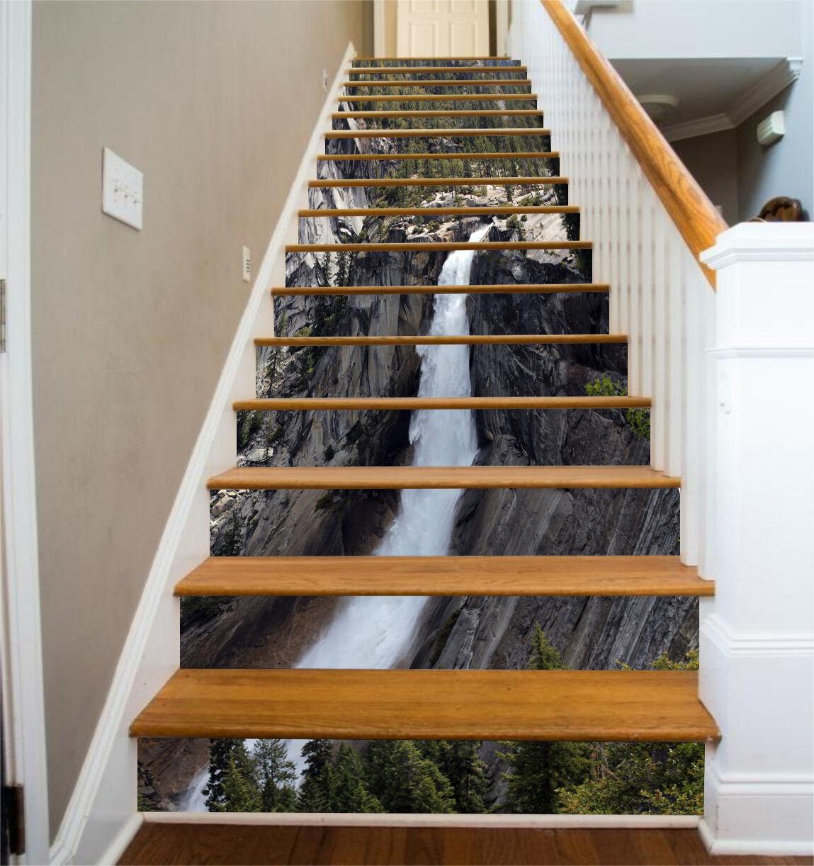 3D Waterfall Line 1 Stair Risers Decoration Photo Mural Vinyl Decal WandPapier AU