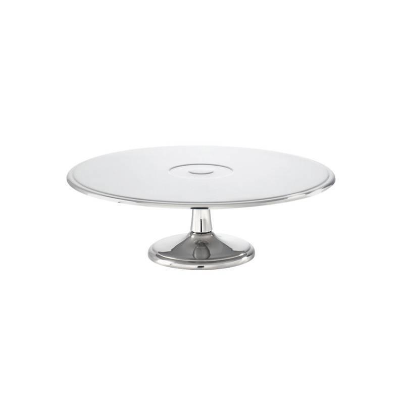 Sambonet Elite Tubo de subida tarta acero, acero silver d. 28 cm