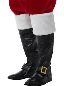 Santa Navidad Negro Hombre Cubrebotas Piel Accesorio Suéter Disfraz de Deluxe OxZOqar