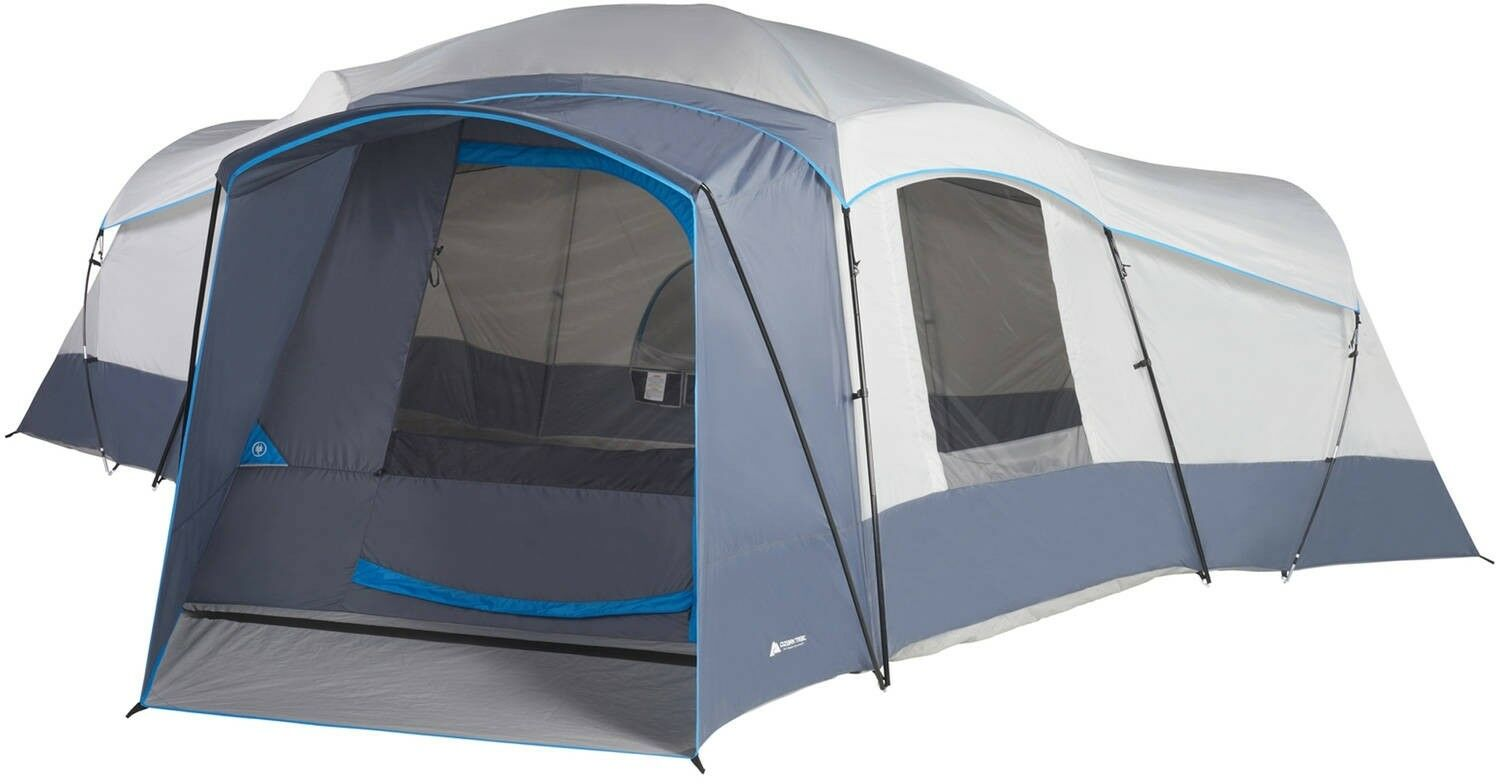 Tunnel Tent Ozark Trail Camping Outdoor Tent Instant Assembly  Tents Sleeps 16  on sale