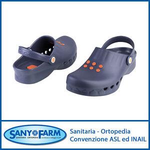 migliori scarpe da ginnastica adf46 95ed3 Dettagli su WOCK NUBE ZOCCOLI CLOGS PROFESSIONALI IN GOMMA BLUE NAVY CON  PLANTARE ESTRAIBILE