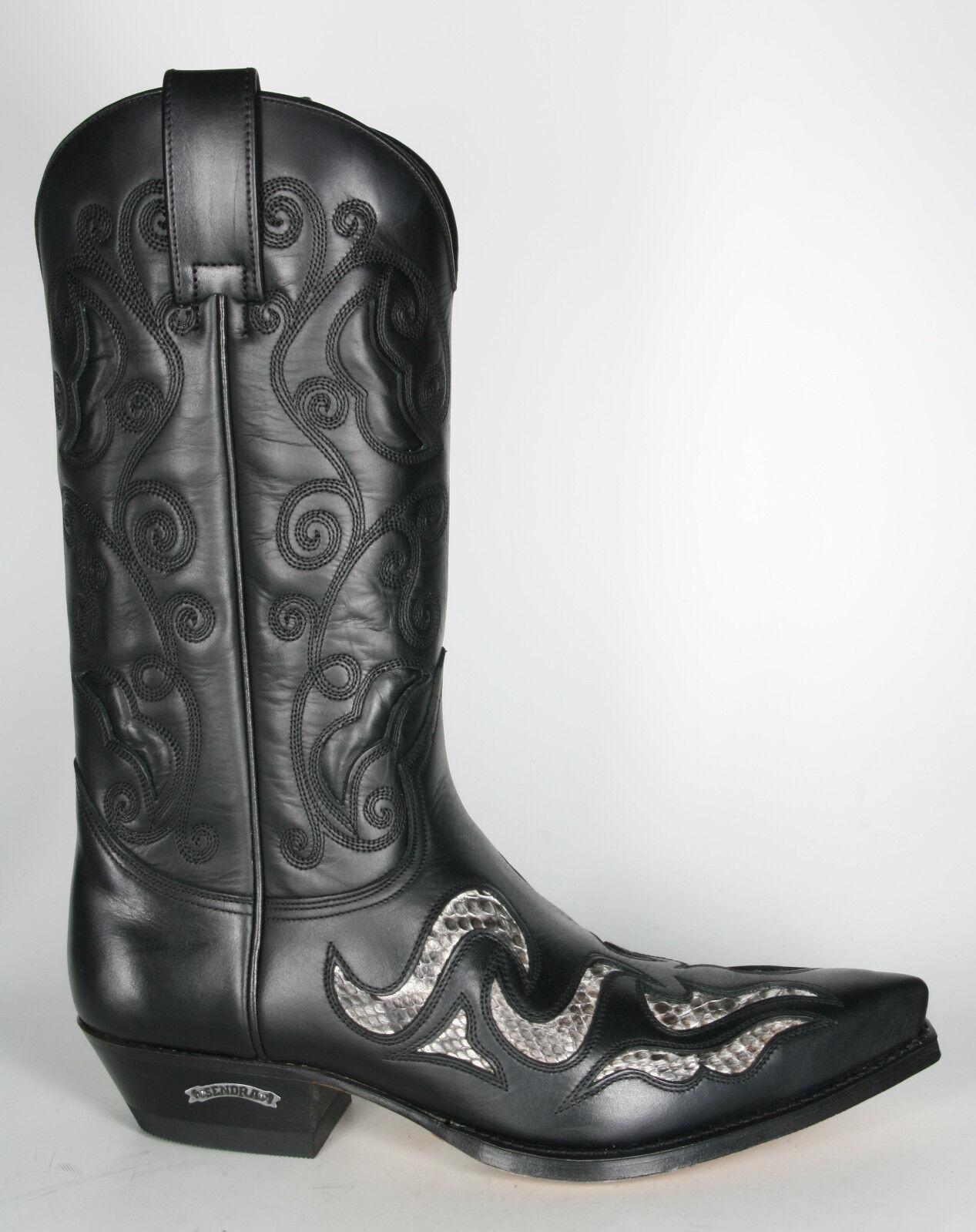 7490 Sendra Stiefel Stiefel Stiefel Stiefel Exotischer Westernstiefel schwarz Python Natural  ba74ee