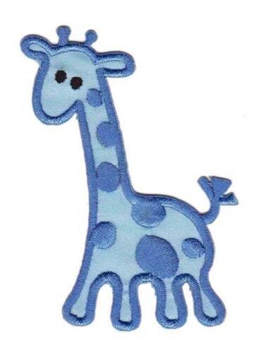 Bc83 azul jirafa zoo Patch aplicación perchas imagen niños Baby bricolaje parchear