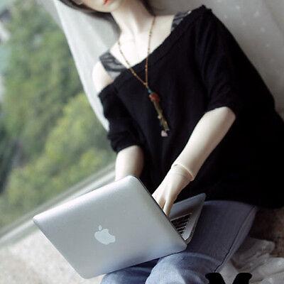 BJD Toy Mini Laptop Mini Mirror BJD Mac Book Dollfie DOD Blythe Pullip #Silver