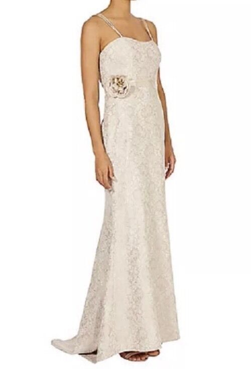 BNWTCOASTSize 6 LACE MAXI DRESS BRIDESMAID WEDDING PROM GOWN NEUTRAL NEW XS
