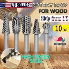 10x Rotary Burr Set Tungsten Carbide Burrs Shank Die Grinder Bit Polishing Drill