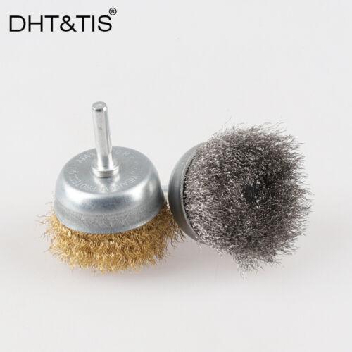2pcs OD50 Brush Steel/&Brass Wire Wheel for Metal Derusting Polishing Deburring