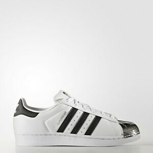 Details about adidas Superstar Metal Toe Women's Shoes Sizes 8 8.5 9 White Silver Black BB5114