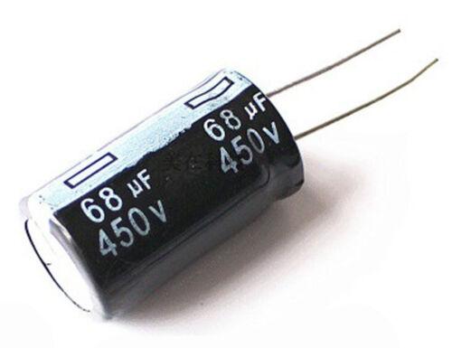 2PCS DIP Aluminum Electrolytic Capacitor 450V 68UF 18*30mm 68uf//450v