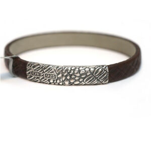 Sterling Silver And Leather Bracelet David Yurman D7kkw8b02a