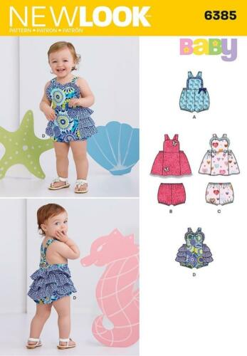 LOOK BRAND Pattern 6385 Sewing Baby Girl Dress Romper Panties Sz Nb ...