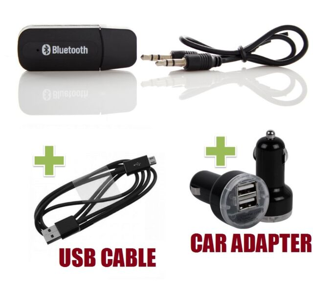 3.5mm AUX Bluetooth Wireless Transmitter & Car Charger for iPhone 5 5S 5C Music