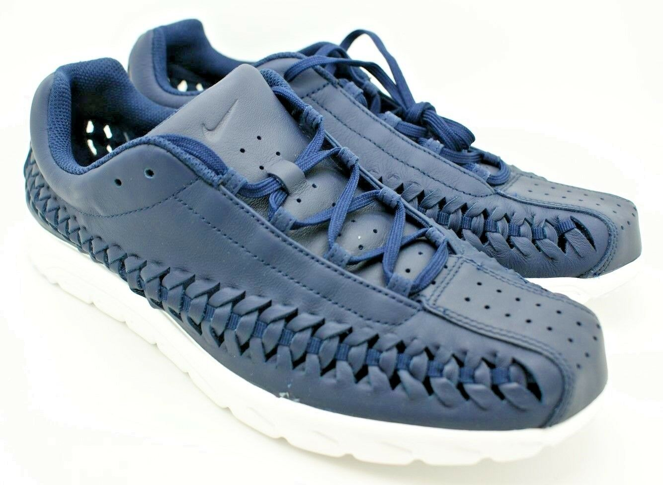 Nike Mens Mayfly Woven Leather Obsidian Navy Running shoes Sneakers 833132 11 NIB