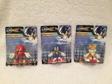 Sonic X Toy Island Mini Bendable Figures Sonic, Tails, & Knuckles