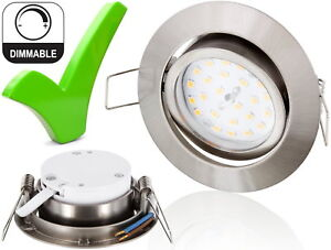 LED 5W Slim Spot Einbaustrahler DIMMBAR schwenkbar 230V - Einbauleuchte Strahler