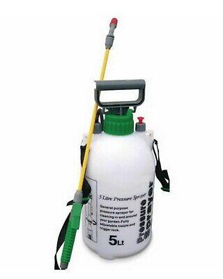 Wilskrachtig Chemical Weed Killer 5 L Litre Garden Pressure Sprayer Knap Sack Back 1.3m Hose