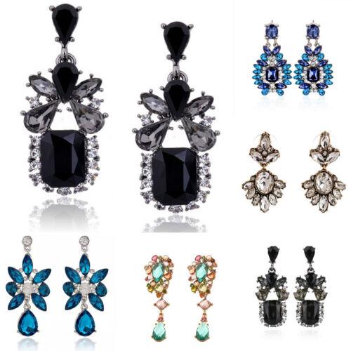Fashion Women Luxury Rhinestone Crystal Drop Dangle Ear Stud Earrings Jewelry