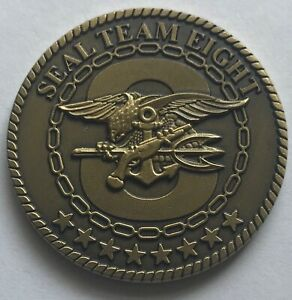 Details about USN NAVY SEALS Seal Team 8 Eight FORTUNE FAVORS THE BOLD  Challenge Coin