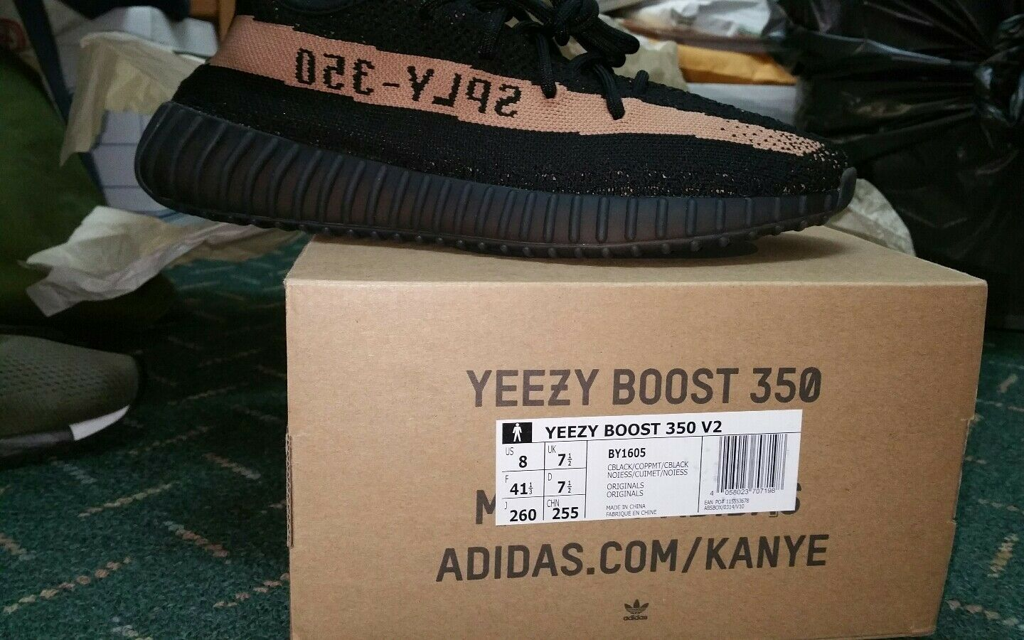Adidas Adidas Adidas Yeezy Boost 350 V2 Black Copper 2016 BOOST low SPLY Kanye West  Sz 8 f7207e