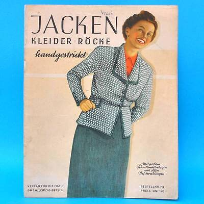 Jacken Kleider Röcke Handgestrickt | Schnittbogen Ddr 1950 Verlag Für Die Frau Einfach Zu Verwenden