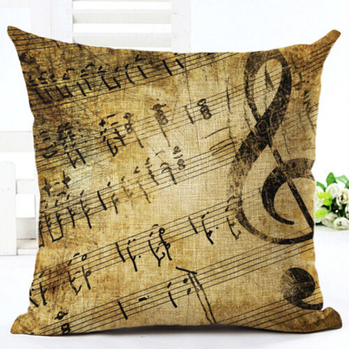 New Musical Note Printed Pillow Cover Linen Square Pillow Cases Home Decor G