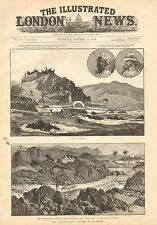 1884 ANTIQUE PRINT-THE NILE EXPEDITION-THE GREAT GATE OF THE SECOND CATARACT