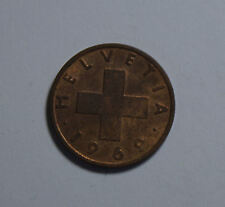 2 Rappen Schweiz Switzerland Helvetia Münze 1969 TOP! (G6)