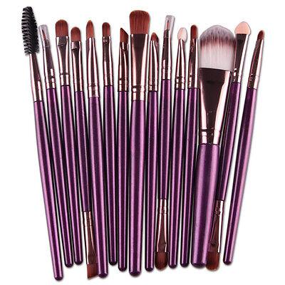 15 piezas Profesional Set Pinceles Maquillaje Cepillo de brochas Cosmético