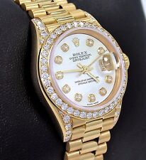 Rolex President 69178 Datejust 18K Yellow Gold MOP Diamond Dial Bezel Lady Watch