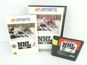Sega-Genesis-NHL-039-94-Game-w-Case-and-Manual-Works-Clean-Contacts