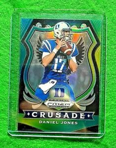 DANIEL JONES PRIZM GREEN YELLOW CARD SP #/249 GIANTS 2020 PRIZM DRAFT PICKS SP