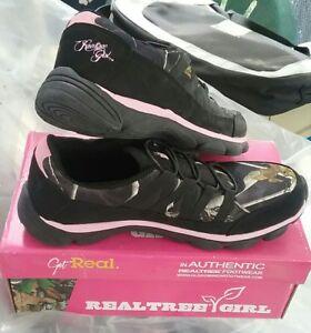 95a5791816e40 RealTree Camo Stella Women's Black/Pink Neoprene/Rubber Athletic ...
