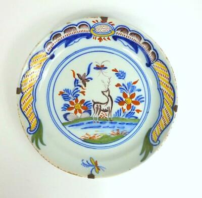 Begeistert Seltener Keramik Teller Niederlande Um 1730 Holland PüNktliches Timing