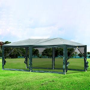 Outsunny-10-039-x20-039-Outdoor-Sun-Shelter-Gazebo-Canopy-Tent-Green
