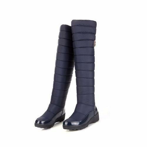Women/'s Winter Long Snow Boots Over Knee High Boot Pull on Flats Boots Warm Size