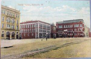 Belleville-IL-1910-Postcard-Public-Square-Illinois-Ill-Unused