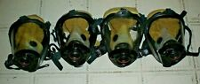 Lot Of 4 Survivair Scba 252022 Full Face Respirator Mask Medium