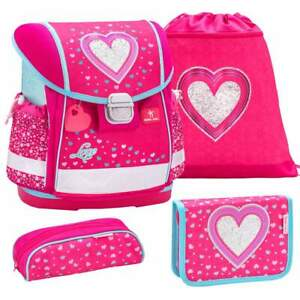 Belmil-Schulranzen-Set-Classy-4-tlg-Erstklaessler-Einschulung-Maedchen-Heart