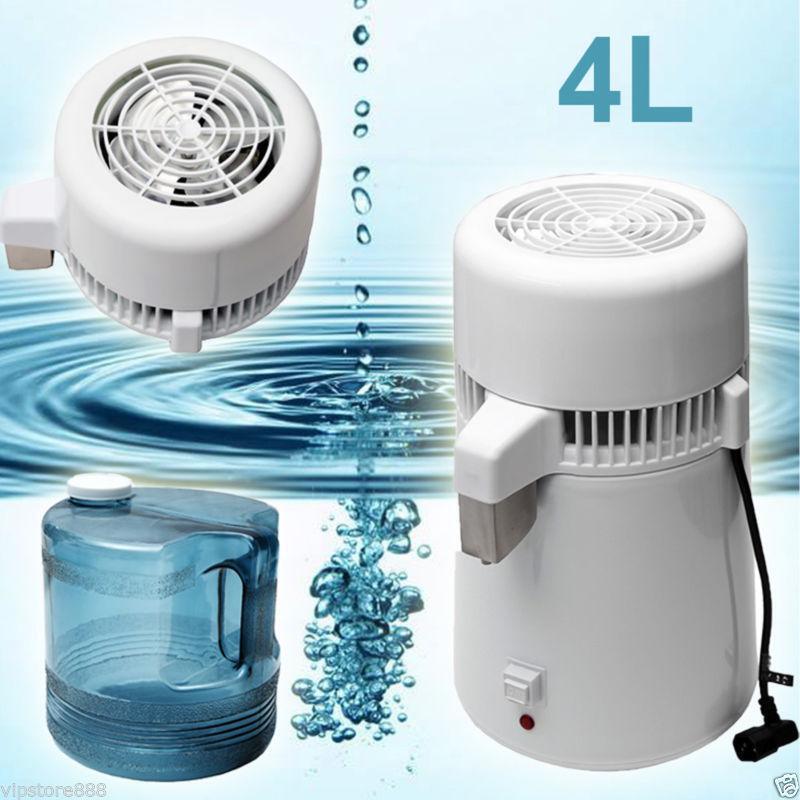 4 LStainless Steel Inner Pure Water Distiller vie saine distillée Filtre 750 W