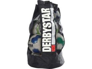 10 Bälle Balltasche Fußball Netz schwarz Fußball Ballsack für ca