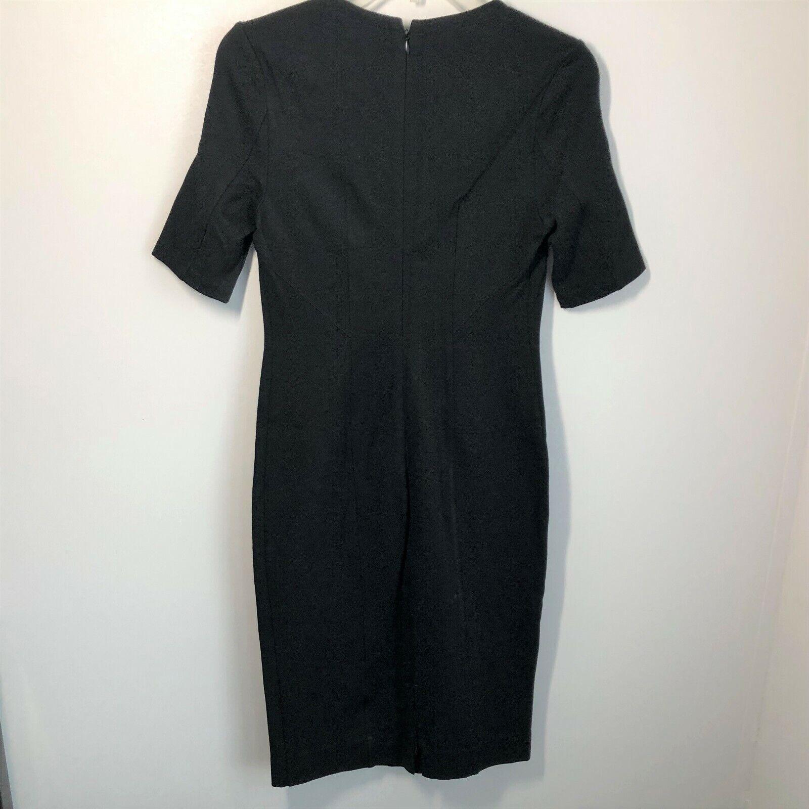 Cabi Size 2 Claire Dress Black Ponte Knit Short S… - image 2